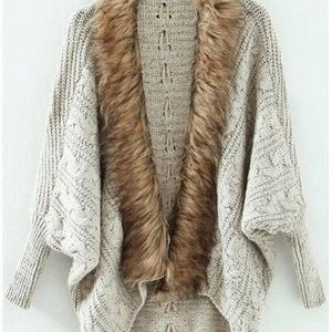 Fall Fur Sweater Cartigan
